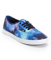 Vans Girls Authentic Lo Pro Galaxy Print Shoe