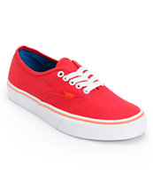 Vans Girls Authentic Lollipop Red Shoe