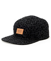 Vans Girls Cheetah Black 5 Panel Hat