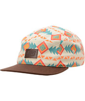 Vans Girls Khaki Native Print 5 Panel Hat