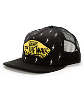 Vans Girls Lightning Bolt Beach Girl Black Trucker Hat