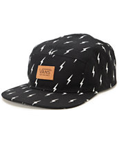 Vans Girls Lightning Bolt Black 5 Panel Hat