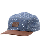 Vans Girls Navy Dot Camper 5 Panel Hat