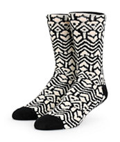 Vans Kaley Black Geo Print Crew Socks