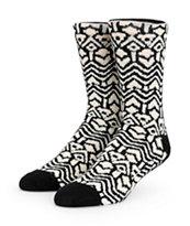 Vans Kaley Black Geo Print Crew Socks