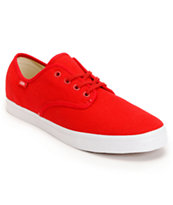 Vans Madero Red & White Skate Shoe