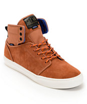 Vans OTW Alomar Canyon Brown Leather & Canvas Skate Shoe