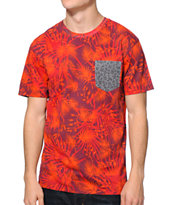 Vans OTW Atascadero Red Pocket Tee Shirt