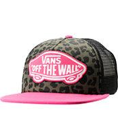 Vans Pink & Leopard Print Trucker Hat
