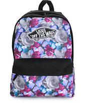 Vans Purple Digi Roses Backpack