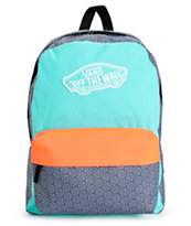 Vans Realm Colorblock & Geo Print Backpack