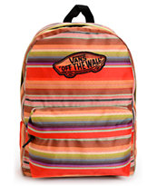 Vans Realm Multi Stripe Red Backpack