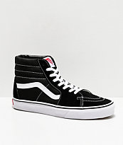 Vans SK8 Hi Black & White Skate Shoes