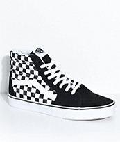Vans Sk8-Hi Black & White Checkered Skate Shoes