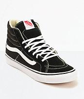 Vans Sk8 Hi zapatos de skate delgados en negro y blanco