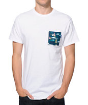 Vans Triple Crown Of Surfing White Pocket Tee Shirt