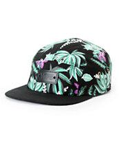 Vans Van Doren Floral Black 5 Panel Hat