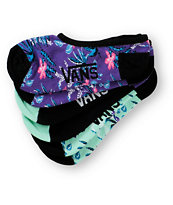 Vans Women's 3 Pack Contend Floral Canoodle No Show Socks
