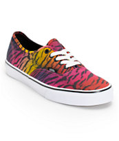 Vans Women's Authentic Rainbow Tiger Print Shoe