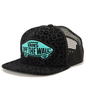Vans Women's Beach Girl Black Leopard Trucker Hat