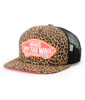 Vans Women's Beach Girl Leopard Herringbone Trucker Hat