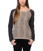 Vans Women's Essex 2 Tone Crew Neck Sweatshirt