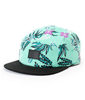 Vans Women's Floral Mint & Black 5 Panel Hat