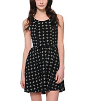 Vans Women's Nola Crosses Black Skater Dress