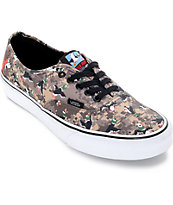 Vans x Nintendo Authentic Duck Hunt Camo Skate Shoes (Mens)