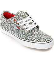 Vans x Nintendo Chukka Low Checkerboard Grey & White Skate Shoes (Mens)