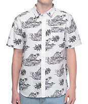 Vans x Sketchy Tank White Short Sleeve Button Up Shirt