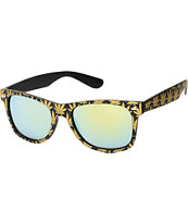 Vice Black & Gold Weed Print Sunglasses