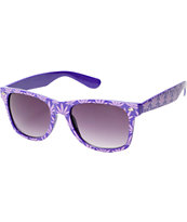 Vice Purple Weed Print Sunglasses