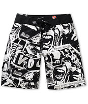 Volcom 45th St Black & White 21 Board Shorts