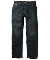 Volcom Black Bart Dark Blue Relaxed Fit Jeans