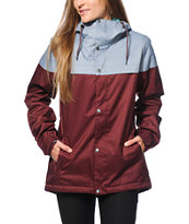 Volcom Bolt Port & Grey 8K Insulated Snowboard Jacket