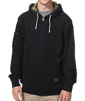 Volcom Borris Black Zip Up Pocket Hoodie