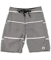 Volcom Boys 17th St. Black Stripe Board Shorts