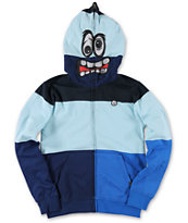 Volcom Boys Booster Light Blue Face Mask Hoodie