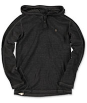 Volcom Boys Burnt Burnout Black Long Sleeve Hooded Thermal Shirt