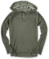 Volcom Boys Central Hooded Henley Shirt