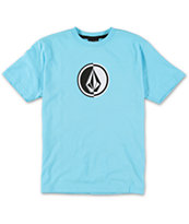 Volcom Boys Circle Stone Blue Tee Shirt