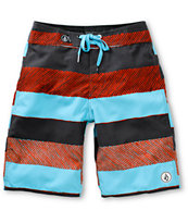 Volcom Boys De Soto St Blue 19 Board Shorts