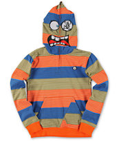 Volcom Boys Easy Going Orange Stripe Face Mask Hoodie