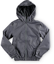 Volcom Boys Ermont Grey Windbreaker Jacket