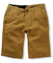 Volcom Boys Faceted Bronze Chino Shorts