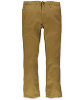 Volcom Boys Faceted Dark Khaki Slim Fit Pants