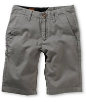 Volcom Boys Faceted Grey Chino Shorts