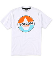 Volcom Boys Fractional White Tee Shirt