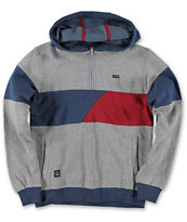 Volcom Boys Fragment Grey Quarter Zip Pullover Hoodie